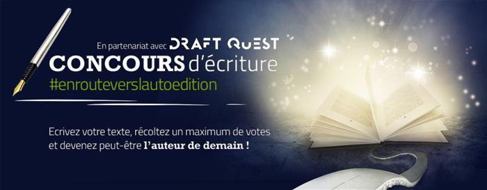 Autoédition : Concours d'écriture Bookelis - Draftquest