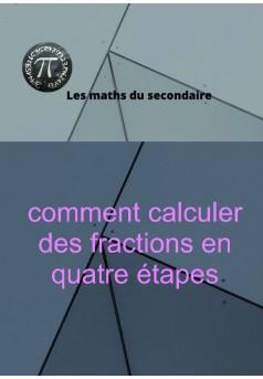 comment calculer des fractions en quatre étapes - Couverture de livre auto édité