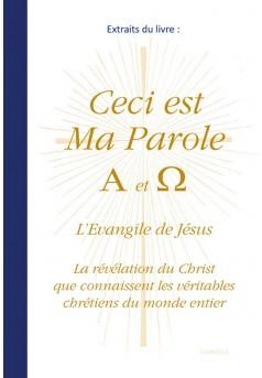 Extraits du livre  Ceci est Ma Parole A et Ω - Couverture Ebook auto édité