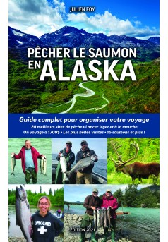 Pêcher le saumon en Alaska - Couverture Ebook auto édité