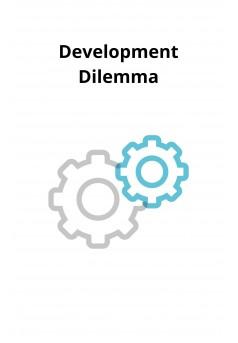 Development Dilemma - Couverture Ebook auto édité