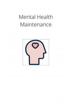 Mental Health Maintenance - Couverture Ebook auto édité