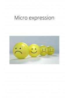 Micro expression - Couverture Ebook auto édité