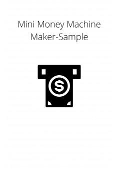 Mini Money Machine Maker-Sample - Couverture Ebook auto édité