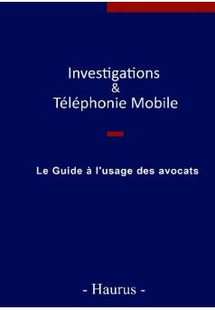 Investigations & Téléphonie Mobile  - Couverture de livre auto édité