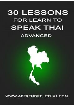 30 Lessons for Learn to Speak Thai Advanced - Couverture Ebook auto édité