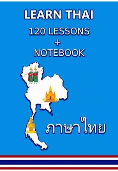LEARN THAI 120 Lessons + Notebook - Couverture Ebook auto édité