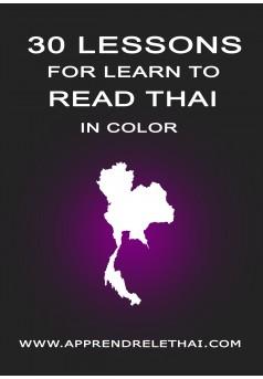 30 Lessons for Learn to Read Thai - Couverture Ebook auto édité