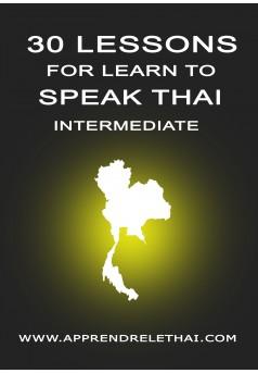 30 Lessons for Learn to Speak Thai Intermediate - Couverture Ebook auto édité
