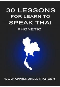 30 Lessons for Learn to Speak Thai Phonetic - Couverture Ebook auto édité