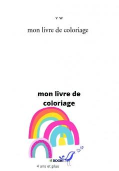 mon livre de coloriage - Couverture de livre auto édité