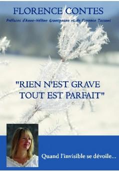 """""""RIEN N'EST GRAVE, TOUT EST PARFAIT"""" - Couverture de livre auto édité"""
