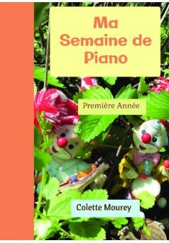 Ma Semaine de Piano - Couverture de livre auto édité