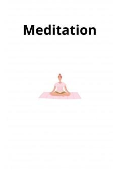 Meditation - Couverture Ebook auto édité
