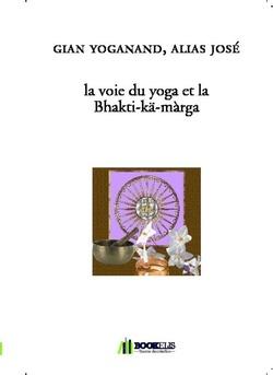 la voie du yoga et la Bhakti-kä-màrga - Couverture de livre auto édité