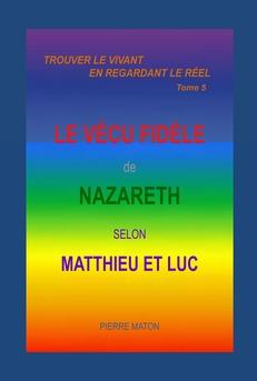LE VÉCU FIDÈLE DE NAZARETH - Couverture Ebook auto édité