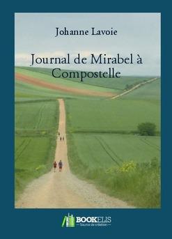 Journal de Mirabel à Compostelle - Couverture de livre auto édité