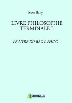 LIVRE PHILOSOPHIE TERMINALE L - Couverture de livre auto édité