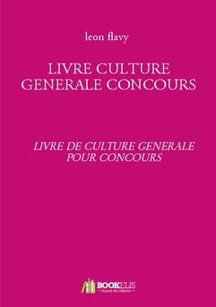 LIVRE CULTURE GENERALE CONCOURS