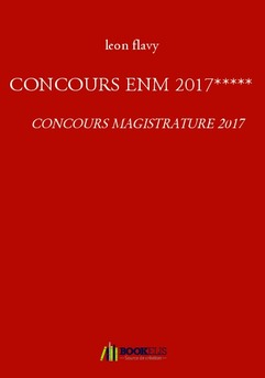 CONCOURS ENM 2017***** - Couverture de livre auto édité