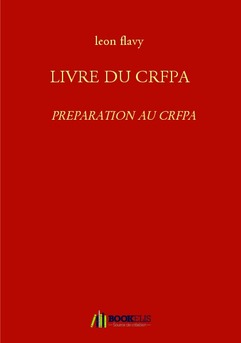 LIVRE DU CRFPA - Couverture Ebook auto édité