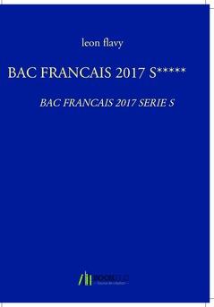 BAC FRANCAIS 2017 S***** - Couverture Ebook auto édité