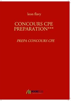 CONCOURS CPE PREPARATION*** - Couverture Ebook auto édité