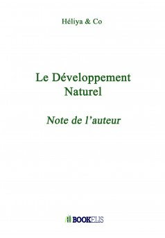 Le Développement Naturel  - Couverture Ebook auto édité
