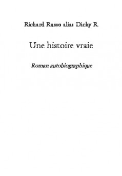 Une histoire vraie - Cover book