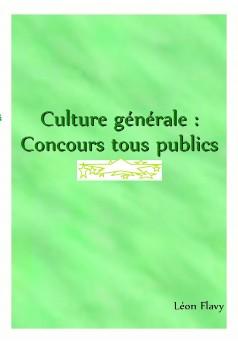 CULTURE GENERALE AUX CONCOURS***** - Couverture Ebook auto édité