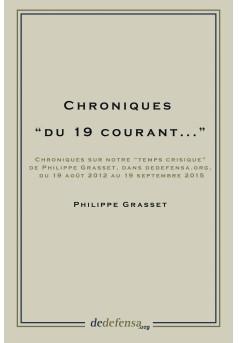 """Chroniques """"du 19 courant..."""" - Couverture Ebook auto édité"""