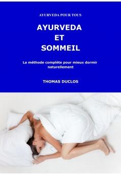 AYURVEDA ET SOMMEIL - Couverture Ebook auto édité