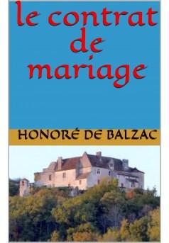 le contrat de mariage - Couverture Ebook auto édité