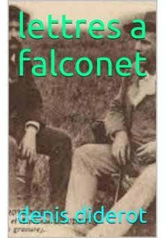 lettres a  falconet - Couverture Ebook auto édité