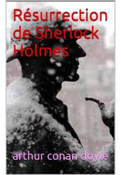 la résurrection de sherlock holmes - Couverture Ebook auto édité