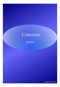 CONCOURS COMMISSAIRE - Couverture Ebook auto édité