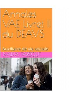 Annales du livret 2 du DE AVS - Couverture Ebook auto édité