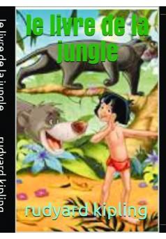 le livre de la jungle - Couverture de livre auto édité