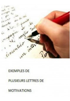exemples de lettres de motivations - Couverture Ebook auto édité