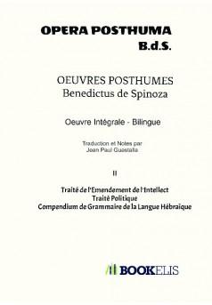 OEUVRES POSTHUMES - Couverture de livre auto édité