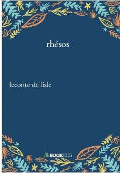rhésos - Couverture de livre auto édité