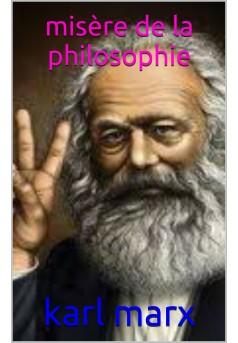 misère de la philosophie - Couverture de livre auto édité
