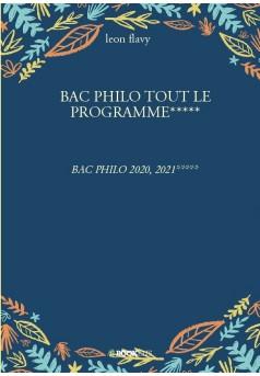 BAC PHILO TOUT LE PROGRAMME***** - Couverture de livre auto édité