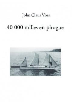 40 000 milles en pirogue - Couverture de livre auto édité