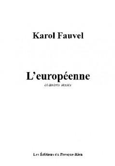 L'européenne  - Couverture de livre auto édité