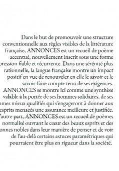 ANNONCES - Couverture de livre auto édité