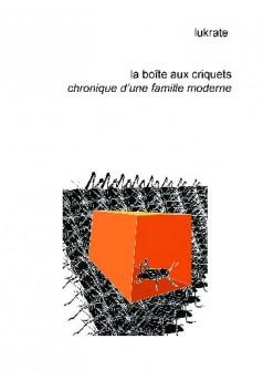 La boîte aux criquets - Couverture de livre auto édité