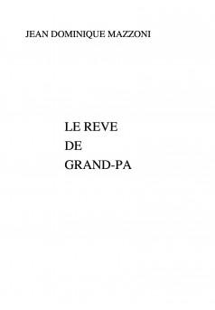 LE REVE DE GRAND-PA - Couverture Ebook auto édité