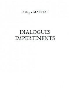 DIALOGUES IMPERTINENTS - Couverture de livre auto édité
