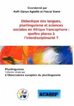 Didactique des langues, plurilinguisme et sciences sociales en Afrique francophone - Couverture de livre auto édité